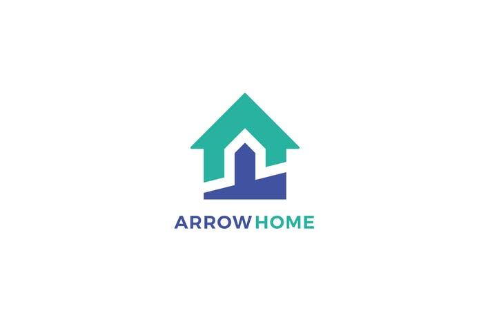 Arrow Home Logo Template