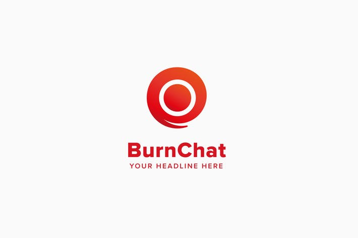 Burn Chat Logo Template