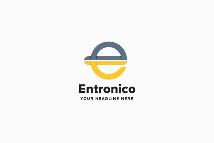 Entronico E Letter Logo Template