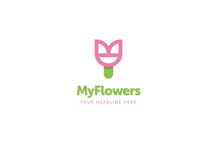 MyFlowers Logo Template
