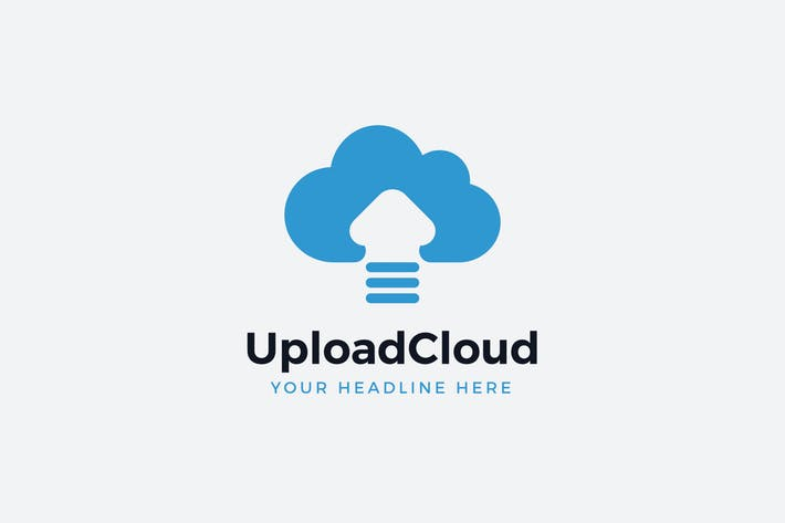 Cloud Upload Logo Template
