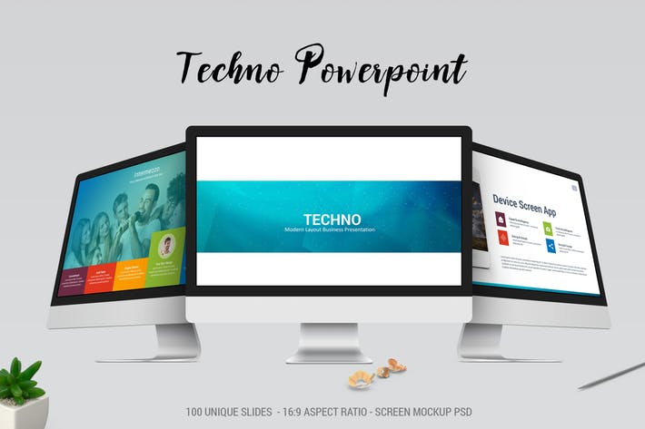 Techno Modern Powerpoint