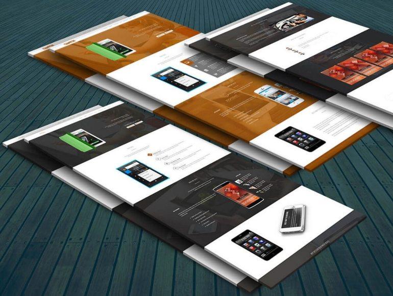 Free Perspective Web Mockup