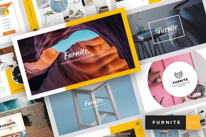 New New Furnite - Interior Design Google Slides Template