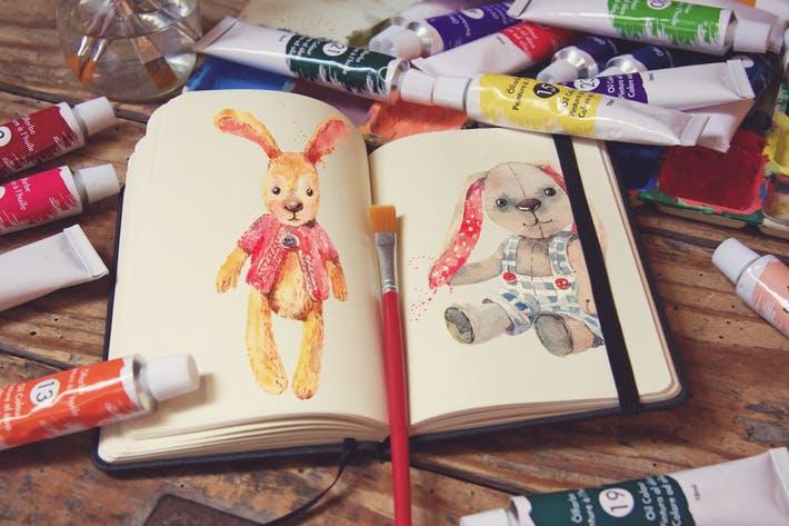 Pocket Notebook & Brush