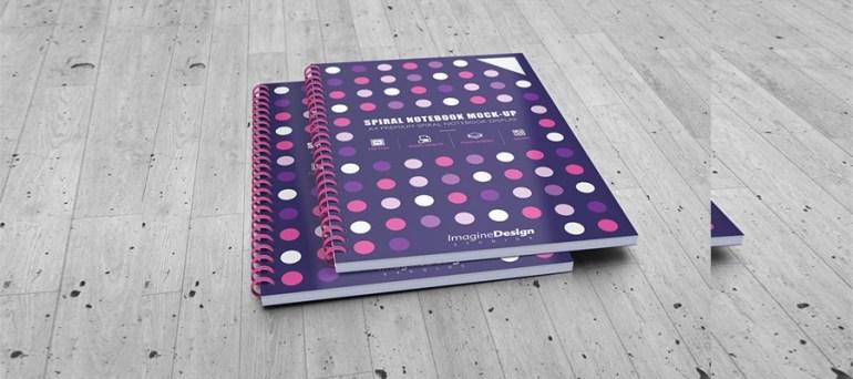 A4 Spiral Notebook Mockup Bundle
