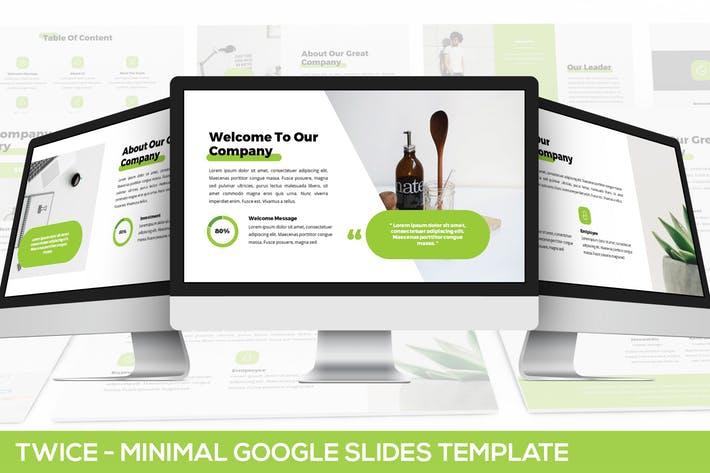 Twice - Minimal & Simple Google Slides Template