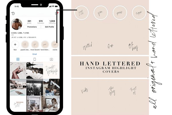 18 HAND LETTERED IG HIGHLIGHT COVER…