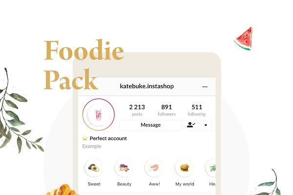30 Icons - Food Instagram Highlight…