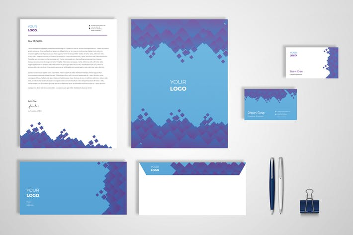 Modern Geometri Pattern Stationery