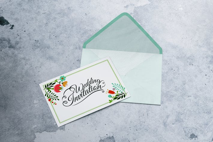 A6 Postcard & Envelope / Invitation / Flyer MockUp