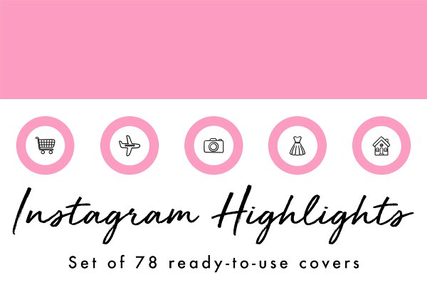 78 Circle Instagram Highlight Cover…