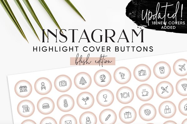 132 Blush Instagram Highlight Cover…