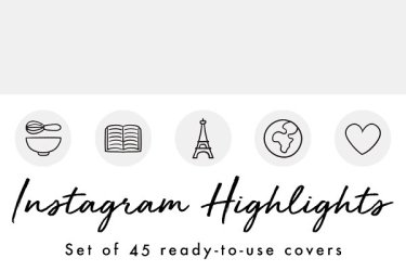 80+ Best Instagram Highlight Icon Sets for Personal Branding Layerbag
