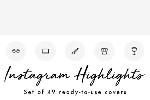 49 Minimal Gray Instagram Highlight…