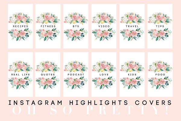 Pretty Instagram Highlight Covers