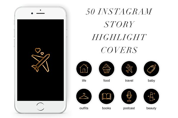 50 Instagram Stories Highlight Icon…