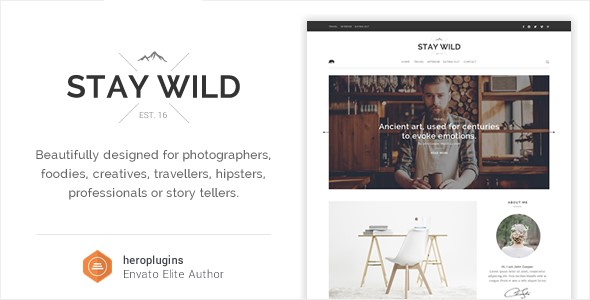 Stay Wild - A Clean Lifestyle Blog & Shop Theme
