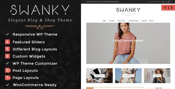 Swanky - A Responsive WordPress Blog & Shop Theme