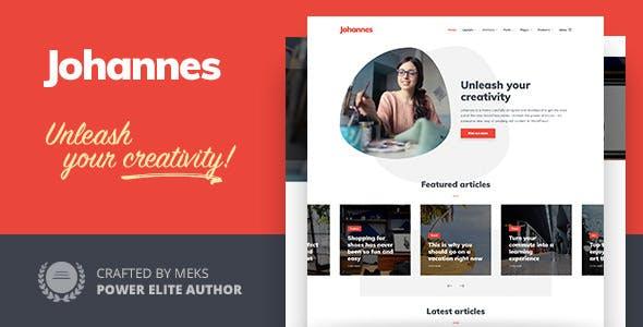 Johannes - Multi-concept Personal Blog & Magazine WordPress theme