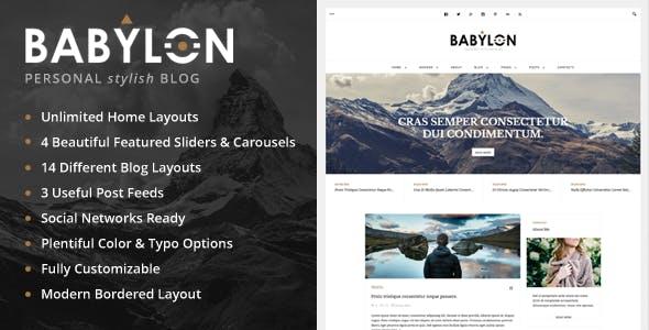 Babylon - Personal Stylish WP Blog