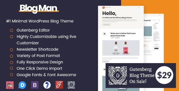 Blogman - Minimal WordPress Blog Theme