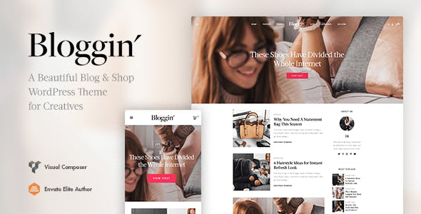 Blggn - A Responsive Blog & Shop WordPress Theme