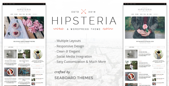 Hipsteria - A WordPress Blog Theme