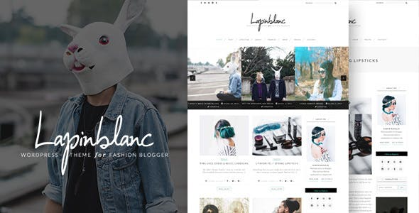 Lapin Blanc - Fashion Blog WordPress Theme