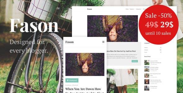 Fason - Fashion and Lifestyle Personal Blog