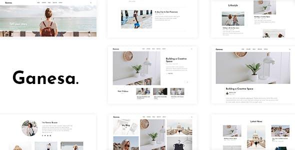 Ganesa - Minimal WordPress Personal Blog Theme