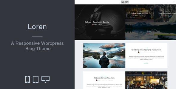 Loren - Responsive WordPress Blog Theme