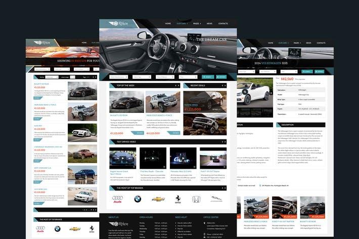 Orthon - Auto Dealer Website PSD Template