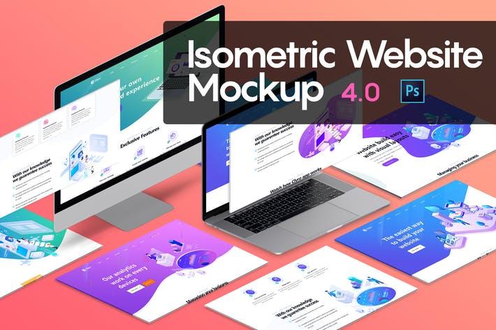 Isometric Website Mockup 4.0