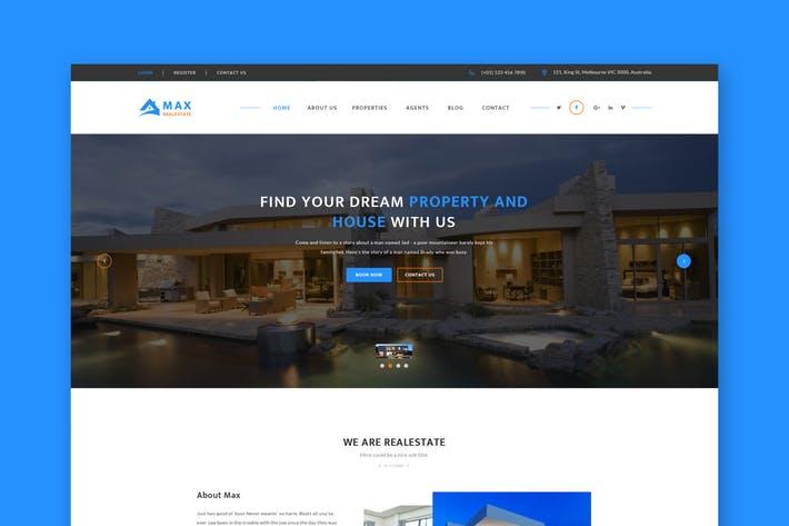 Real Estate Website PSD Template