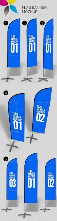Premium Flag Banner Mockup