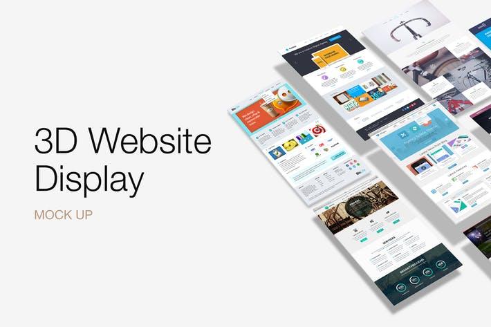 3D Website Display Mockup