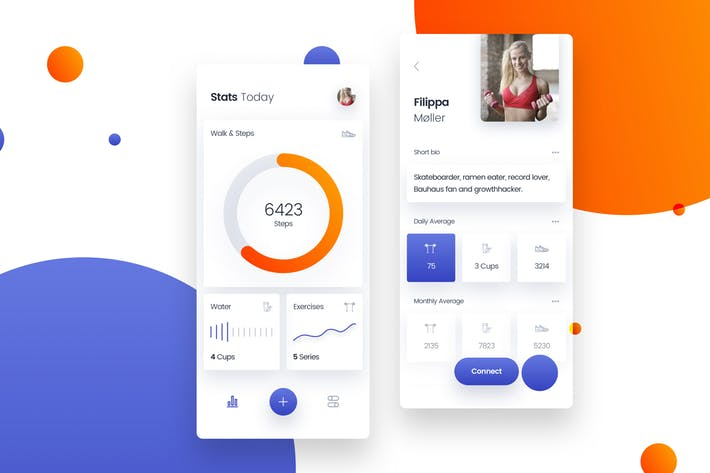 Workout Gym & Fitness Mobile App UI Kit Template