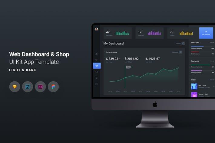 Web Dashboard & E-Commerce UI Kit App Template 3