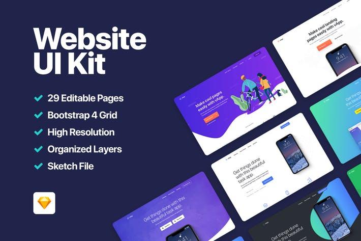 vApp - Website UI Kit