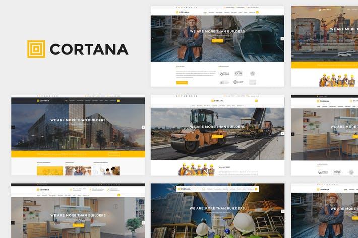 Cortana - Construction Website Template