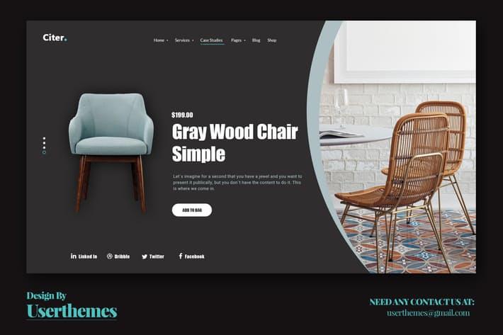 Website Featured Exploration Design Template