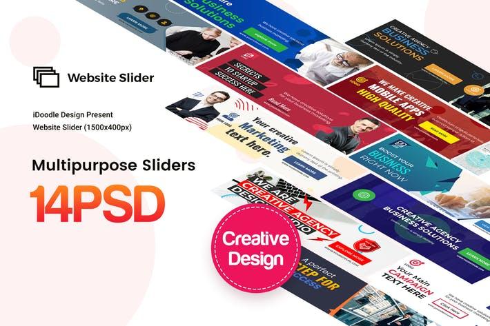 Multipurpose, Business Website Sliders