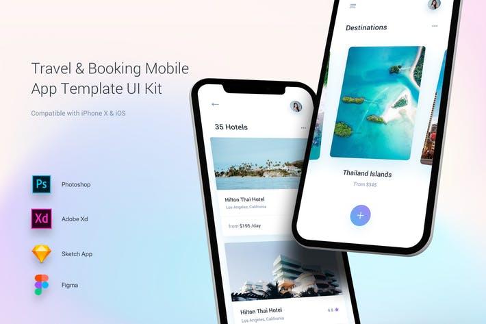 Travel & Booking Mobile App Template UI Kit