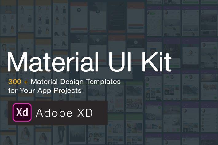 Material Design UI KIT - 300+ for XD