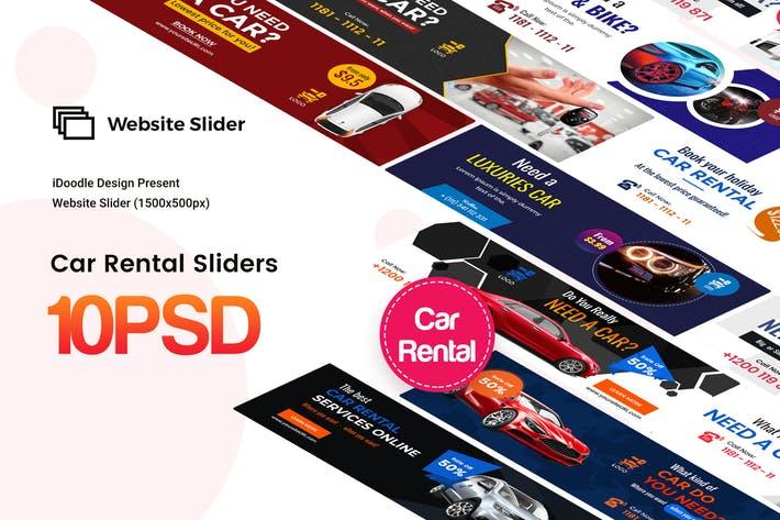 Car Rental Website Slider