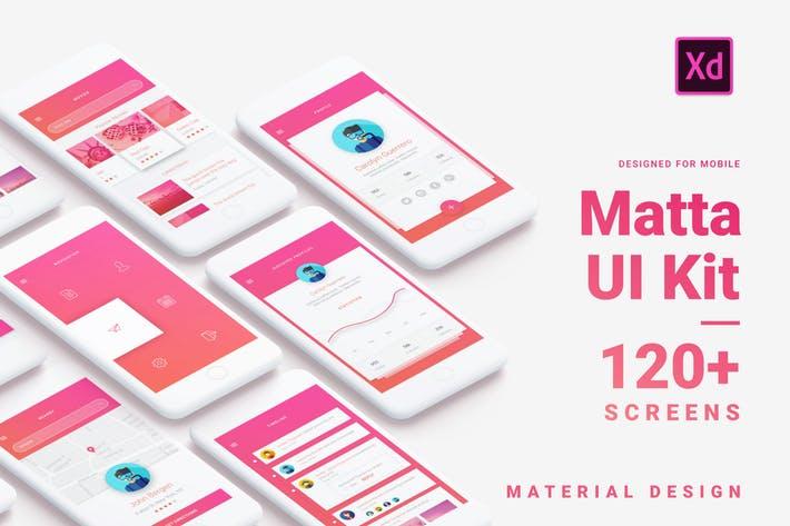 Matta - Material Design Mobile UI Kit for Xd