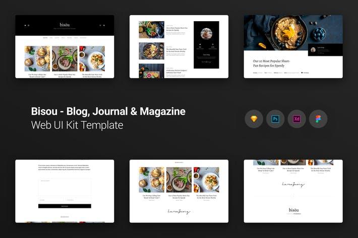 Bisöu Blog, Journal & Magazine Web UI Kit Template