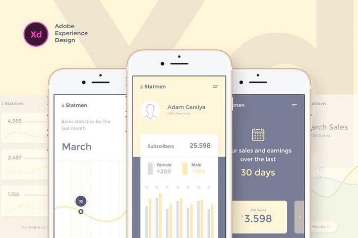 Statmen XD iOS Ui Kit - Statistic