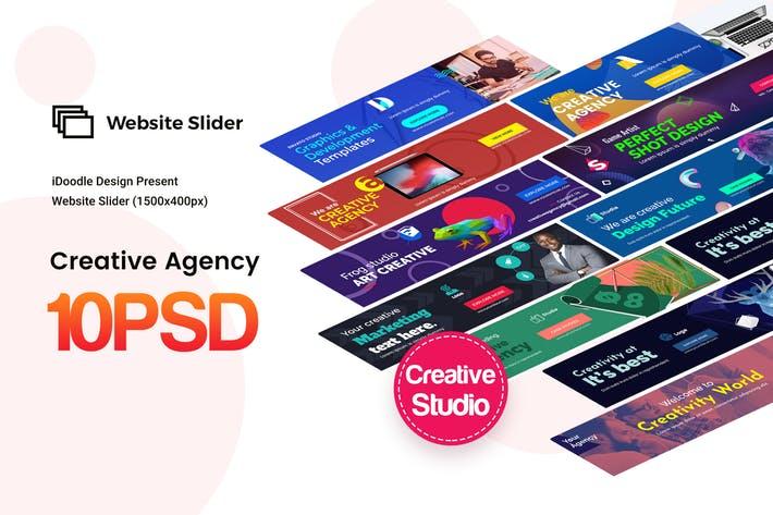 Creative Agency, Startup, Studio Website Sliders